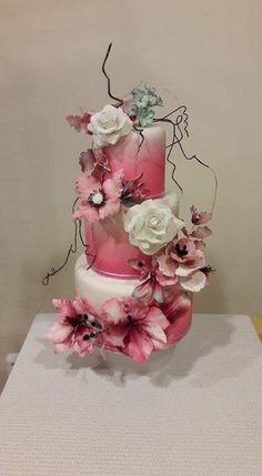 Bloementaart van Maureen taarten... Gemaakt in een masterclass van Kim Wiltjer