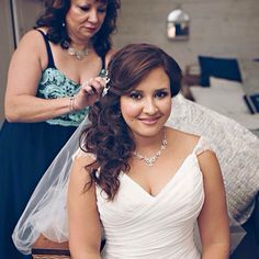 Beautiful loose wedding hair