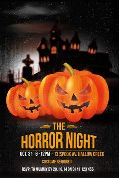 horror nights halloween party invitationtemplate for halloween party invitation printable