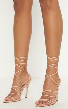 04e88a3b428d Nude Strappy Gladiator Point Toe HeelThese nude tie up heels are a  must-have for