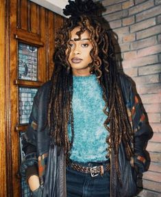 Dreads Styles, Curly Hair Styles, Natural Hair Styles, Black Girls Hairstyles, Cool Hairstyles, Collateral Beauty, Pelo Natural, Dreadlock Hairstyles, Braided Hairstyles