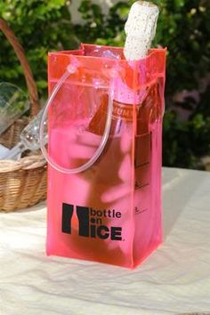 BOTTLE ON ICE Pink  ice bucket & wine chiller  http://www.ortutraders.com/