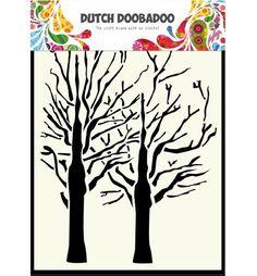 470.154.003 Dutch Doobadoo Mask Art A6 Trees