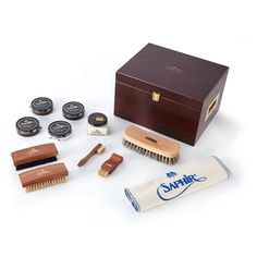 Edward and James Saphir Luxury Valet Box Smooth Leather, Calf Leather, Grenson Shoes, Shoe Tree, Goodyear Welt, Free Shoes, Hole Punch, Brogues, Wooden Boxes