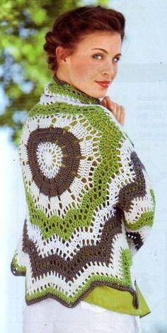 Crochet Jacket - Free Crochet Diagram - (kruchcom)