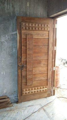 House Main Door Design, Wooden Front Door Design, Home Door Design, Main Entrance Door Design, House Outside Design, Double Door Design, Bedroom Door Design, Wooden Front Doors, Door Design Interior