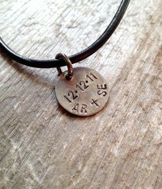 Guys Necklace- Mens Leather Necklace- Groomsmen Gifts- Men Christmas Gift- Rustic- on Etsy, $38.00