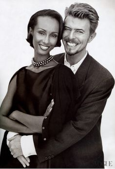 'Life is finite'. David Bowie with Iman.