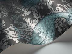Cole & Son 94/7041 Albemarle Metallic peacocks wallpaper