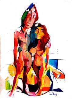 John & Yoko by Julio Ibarra