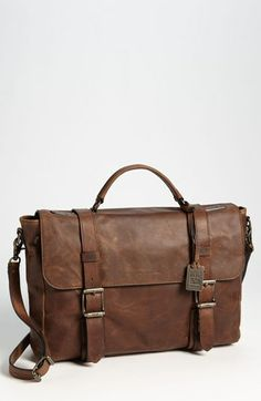 Frye 'Logan' Flap Briefcase available at #Nordstrom Putting this under Inspiration not Wishlist because he swears I'm getting him a $500+bag.