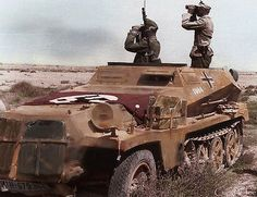 General der Panzertruppen Ulrich Kleeman on SdKfz250 | 90. Leichte div., North Africa WWII, pin by Paolo Marzioli
