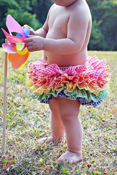 Rainbow Tutu Ruffle Bloomer Ruffle Diaper Cover by BloominBloomers, $40.00