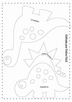 As you all know, I love quick sewing projects. Small and fast beginner sewing projects is … Felt Patterns, Applique Patterns, Sewing Patterns Free, Sewing Toys, Sewing Crafts, Felt Templates, Applique Templates, Card Templates, Dinosaur Pattern