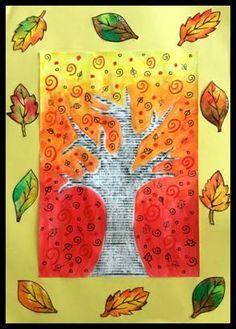 Strom – frotáž a otisk