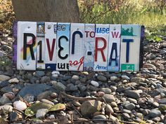 Excited to share this item from my shop: River Rat sign/license plate art/River lover gift/SUP gift/license plate sign/river sign/kayaker gift/fisher gift/gift for him/gift for her Poker Run, License Plate Art, River House, Rats, Gift For Lover, Gifts For Him, Wall Art, Unique Jewelry, Handmade Gifts
