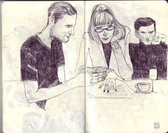 Sketchbooks 2012 by Jared Muralt, via Behance