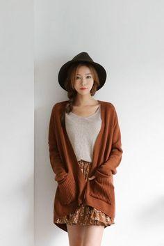 Daily Slim fit Shoulder Cardigan | Korean Fashion