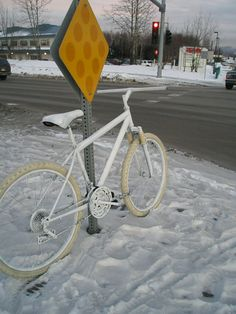 Ghost Bike - Anchorage Alaska    Ride Safe...