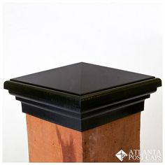 Black Pyramid Estate Series Fence and Deck Post Caps - Adds an elegant addition to your outdoor landscape. Metal Fence Posts, Deck Posts, Outdoor Spray Paint, Fence Post Caps, Atlanta, Making 10, Cool House Designs, Easy Install, Home Depot