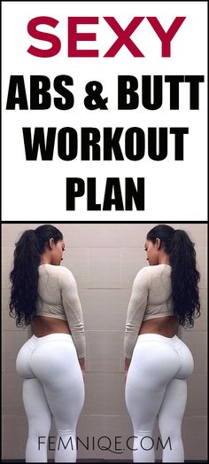 Powerful 30 Day Abs and Butt Workout Plan/Challenge (2017) - This abs and butt workout at home/gym will help to shred belly fat and get a bigger butt at the same time.