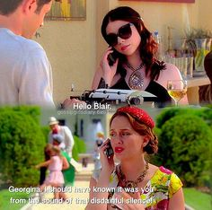 Gossip Girl Georgina Sparks and Blair Waldorf quotes Gossip Girl Blair, Gossip Girls, Blair Waldorf Quotes, Georgina Sparks, Girls Tv Series, Gossip Girl Quotes, Jenny Humphrey, Nate Archibald, Michelle Trachtenberg