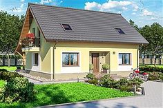 Projekt domu Amor 117,31 m2 - koszt budowy 189 tys. zł - EXTRADOM Home Fashion, Shed, Outdoor Structures, Cabin, Mansions, House Styles, Home Decor, Projects, Decoration Home