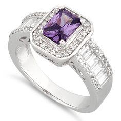 Emerald-Cut Amethyst Ring