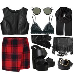/// a GOTH(Y) dayyy /// by agnessonderhave on Polyvore featuring polyvore, fashion, style, Jaggar, Madewell, Office, Proenza Schouler, Gucci, Ray-Ban, Roeckl and MANGO