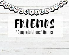Party In A Click by PartyInAClick on Etsy Bachelorette Decorations, Birthday Party Decorations, Bachelorette Drinking Games, Wine Puns, Congratulations Banner, Have A Great Night, Bridal Shower Party, Friends Tv Show, Get The Party Started