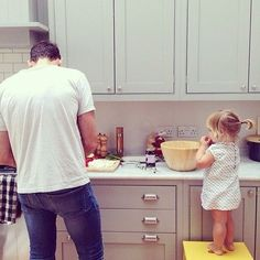 "Matt: ""Clara wanted to make cookies. Anyone wanna help!?"" I ask desperately"