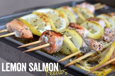 Lemon Salmon Kebabs #FitFluential via FitFoodieLee