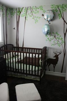 this is an adorably awesome theme for a baby boy's nursery