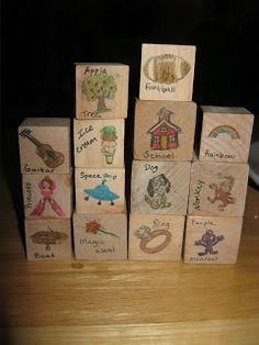Have you heard of story cubes? I just learned about them today from our MOPS group. I am now hooked and have been making them all night! ...