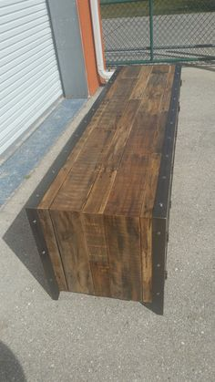 Steel & Reclaimed Wood Industrial Media Console 004XLS