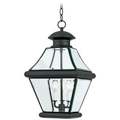 "Rutledge Mystic Black 19 1/2"" High Outdoor Hanging Light -"