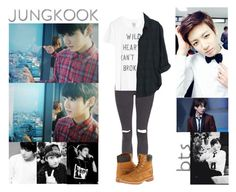 """""""Jungkook - Weekly Idol Edition"""" by ish-fish ❤ liked on Polyvore featuring Topshop, Timberland, Zoe Karssen and Xirena"""