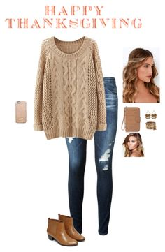 """""""Thanksgiving With The Family"""" by hanakdudley ❤ liked on Polyvore featuring AG Adriano Goldschmied, Warehouse, MICHAEL Michael Kors, Lulu*s, ALDO and Charlotte Tilbury"""