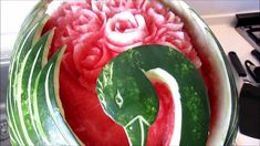 vegetables carving,intaglio frutta e verdura by Chef Claudio Crotti, vid...