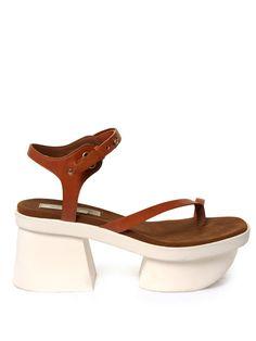 Altea faux-leather block-heel platform sandals | Stella McCartney | MATCHESFASHION.COM