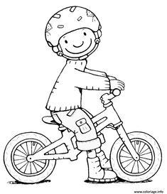 Coloriage securite routiere velo bicyclette porter son casque de protection à imprimer Boy Coloring, Coloring Pages For Boys, Colouring Pages, Coloring Books, Transportation Activities, Fantasy Mermaids, Kindergarten Writing, Create And Craft, Kids Church