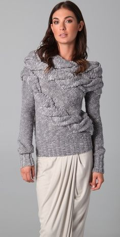 Doo.Ri Boat Neck Cable Sweater | SHOPBOP