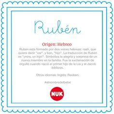 El nombre del bebé: Rubén #BebésNUK