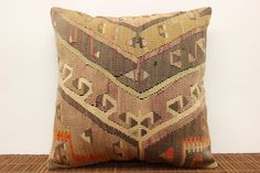 Throw kilim pillow cover 16 x 16 Ethnic Kilim by kilimwarehouse, $50.00
