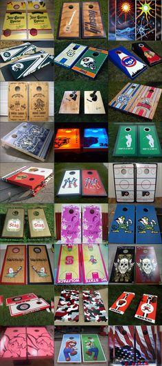 cornhole board designs | Top 27 Cornhole Boards :: Q3 2010 | Outdoor Games Blog
