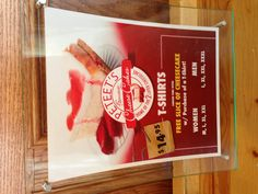 Free slice Cheesecake with purchase of Tshirt