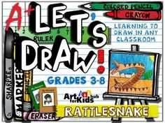Lets Draw a Rattlesnake! Drawing Lesson for Any Classroom (grades 3-8)This is a supplemental resource for drawing a rattlesnake on Art for Kids Hub.