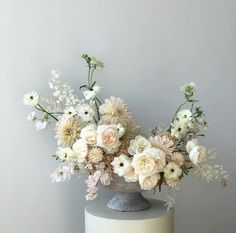 Floral centerpieces, white floral arrangements, white centerpiece, flower a White Floral Arrangements, Wedding Flower Arrangements, Floral Bouquets, Wedding Centerpieces, Floral Wreath, Pink Bouquet, Centrepieces, Flower Centerpieces, Table Centerpieces