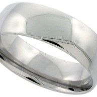 This Quality Stainless Steel Band is made of Low Nickel 316L Hypo Allergenic Surgical Steel, and is no different than the ones you can pay $60.00 to $200.00 for. It is 5/16″ (8 mm) Wide. And Rou...