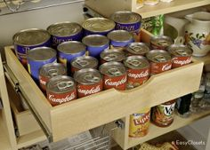 Tip of the Day: Group like items together in the pantry, such as canned goods or baking supplies.